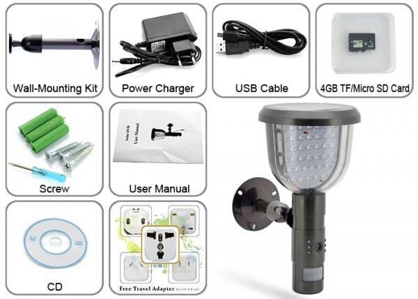 Система видеонаблюдения с питанием от платы